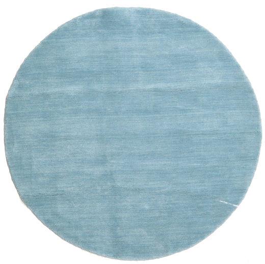 Handloom - Secundair Vloerkleed 150X150 Modern Vierkant Lichtblauw (Wol, India)