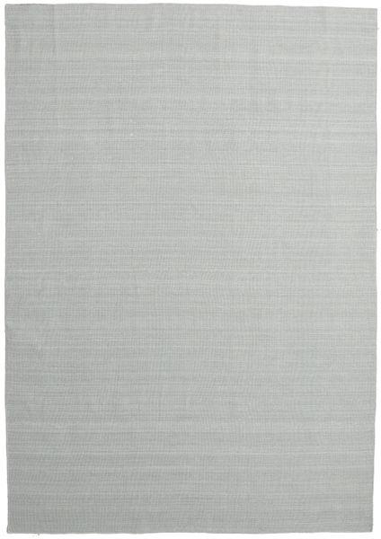 Kelim Loom - 2. Wahl Teppich  220X320 Echter Moderner Handgewebter Hellgrau (Wolle, Indien)