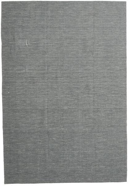 Kelim Loom - Toissijainen Matto 220X320 Moderni Käsinkudottu Tummanharmaa/Vaaleanharmaa (Villa, Intia)
