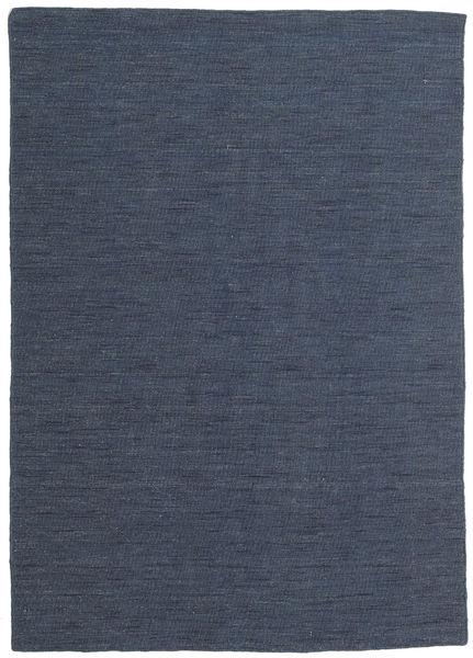 Kilim Loom - Secondary Rug 140X200 Authentic  Modern Handwoven Blue/Dark Blue (Wool, India)