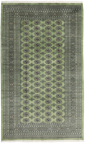 Pakistan Bokhara 2Ply Rug 199X329 Authentic  Oriental Handknotted Olive Green/Dark Grey/Light Grey (Wool, Pakistan)