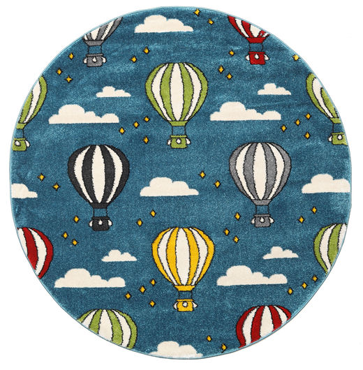 Balloons Rug 150X150 Modern Square Dark Blue/Blue ( Turkey)