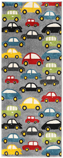 Cars Rug 80X200 Modern Hallway Runner  Dark Brown/Black ( Turkey)