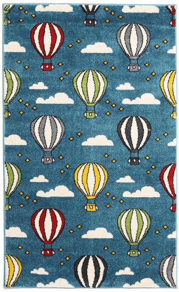 Balloons Matto 100X160 Moderni Tummansininen/Tumma Turkoosi ( Turkki)