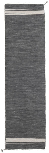 Ernst - Dark Grey/Light Beige Rug 80X300 Authentic  Modern Handwoven Hallway Runner  Dark Grey (Wool, India)