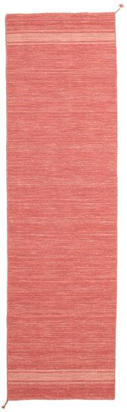 Ernst - Coral/Light_Coral Rug 80X400 Authentic  Modern Handwoven Hallway Runner  Orange/Dark Beige (Wool, India)
