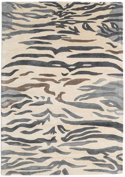 Love Tiger - Grey Rug 160X230 Modern Dark Grey/Beige/Light Grey ( India)
