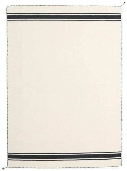 Ernst - Blanc Écru/Noir Tapis 170X240 Moderne Tissé À La Main Beige (Laine, Inde)