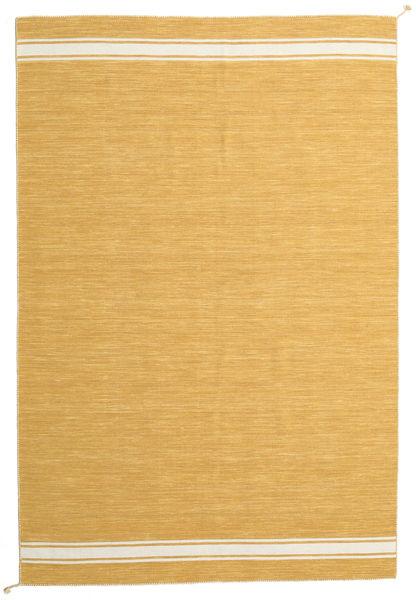 Ernst - Mustard/Off White Rug 200X300 Authentic  Modern Handwoven Light Brown (Wool, India)