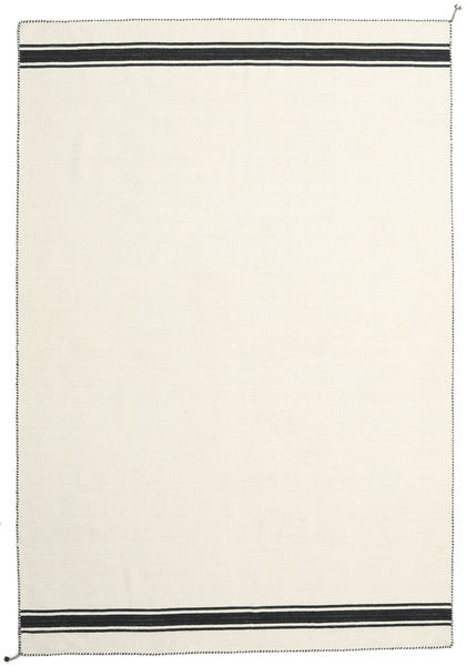 Ernst - Off White/Black Rug 200X300 Authentic  Modern Handwoven Beige (Wool, India)