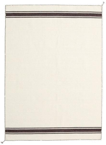 Ernst - Kość Słoniowa/Brunatny Dywan 170X240 Nowoczesny Tkany Ręcznie Beżowy (Wełna, Indie)