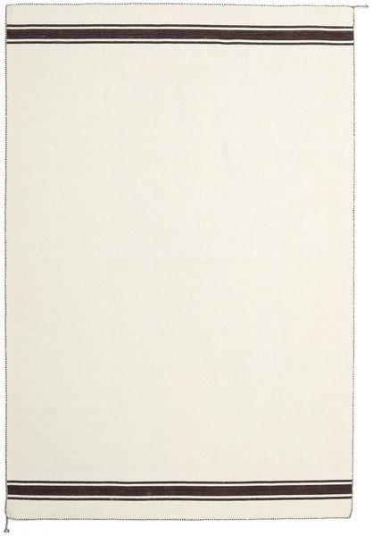 Ernst - Υπόλευκο/Καφέ Χαλι 200X300 Σύγχρονα Χειροποίητη Ύφανση Μπεζ/Σκούρο Μπεζ (Μαλλί, Ινδικά)