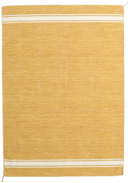 Ernst - Mustard/Off White Rug 170X240 Authentic  Modern Handwoven Light Brown (Wool, India)