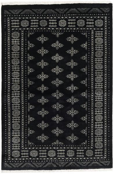 Pakistan Bokhara 3Ply Matto 140X209 Itämainen Käsinsolmittu Musta/Tummanharmaa (Villa, Pakistan)