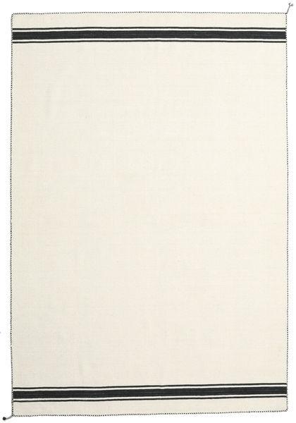 Ernst - Gebroken Wit/Zwart Vloerkleed 250X350 Echt Modern Handgeweven Beige Groot (Wol, India)