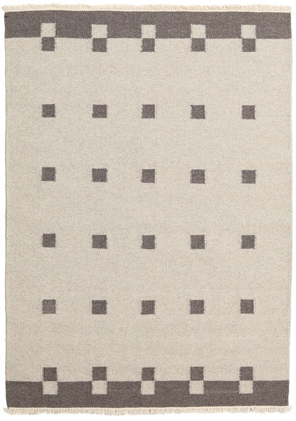 Kilim Modern Rug 139X194 Authentic  Modern Handwoven Light Grey/Light Brown (Wool, India)