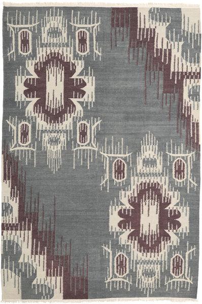 Kilim Moderno Tapete 162X241 Moderno Tecidos À Mão Cinzento Claro/Cinza Escuro (Lã, Índia)