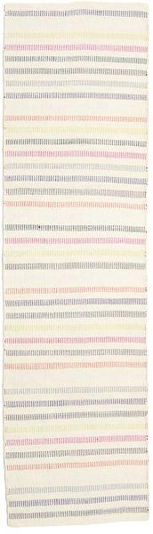 キリム モダン 絨毯 70X250 モダン 手織り 廊下 カーペット ベージュ/薄い灰色 (ウール, インド)