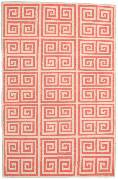 Kelim Moderne Teppe 153X235 Ekte Moderne Håndvevd Lyserosa/Beige/Orange (Ull, India)