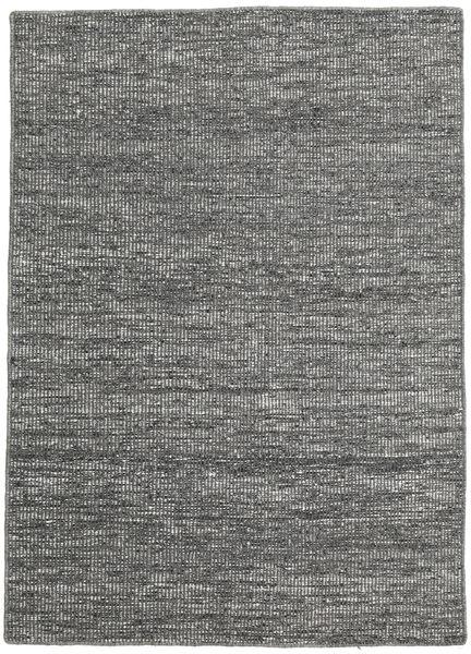 Kelim Moderni Matto 136X190 Moderni Käsinkudottu Tummanharmaa/Vaaleanharmaa (Villa, Intia)