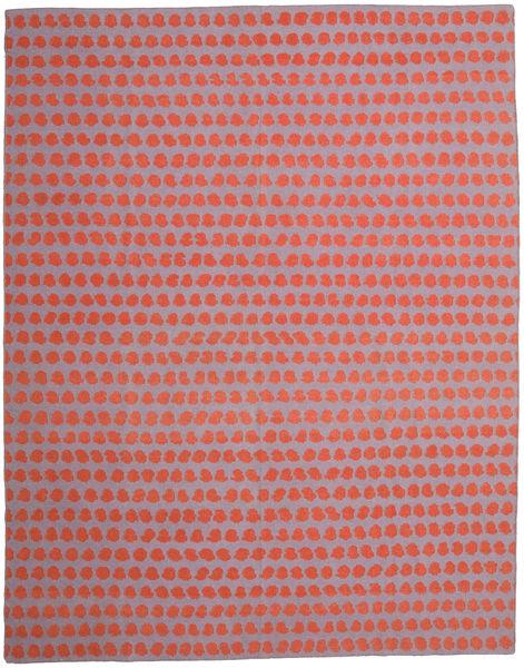 Kelim Moderni Matto 300X395 Moderni Käsinkudottu Vaaleanpunainen/Oranssi Isot (Villa, Intia)