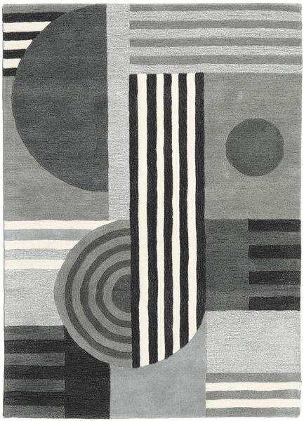 Tilt - Gris Tapis 160X230 Moderne Gris Clair/Bleu Foncé (Laine, Inde)