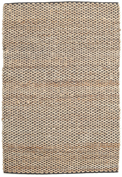 Siri Jute - Natural/Black Rug 160X230 Authentic  Modern Handwoven Light Brown/Beige ( India)