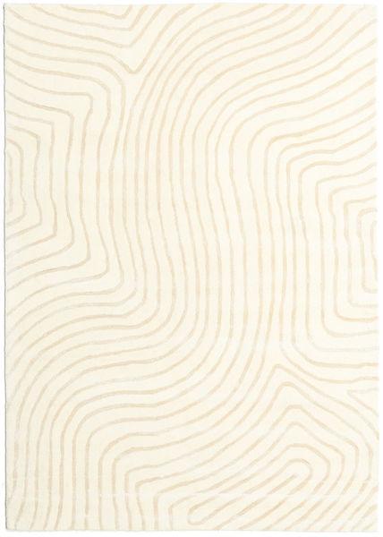 Woodyland - Beige Tapis 160X230 Moderne Beige/Blanc/Crème (Laine, Inde)