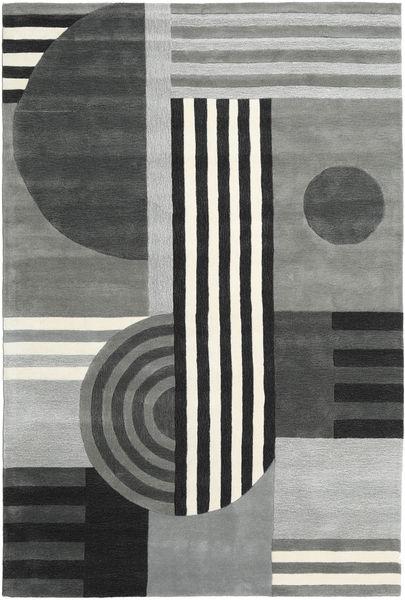 Tilt - Harmaa Matto 200X300 Moderni Vaaleanharmaa/Musta (Villa, Intia)