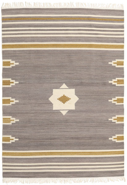 Tribal - Grey Rug 140X200 Authentic  Modern Handwoven Light Grey/Light Brown/Beige (Wool, India)