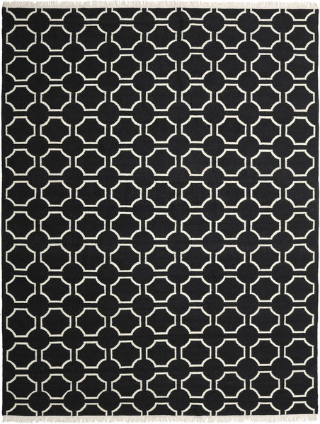 London - Musta/Valkea Matto 300X400 Moderni Käsinkudottu Musta Isot (Villa, Intia)