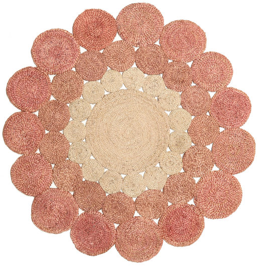 Trixie - Terracotta Rug 150X150 Authentic  Modern Handwoven Square Light Pink/Light Brown ( India)