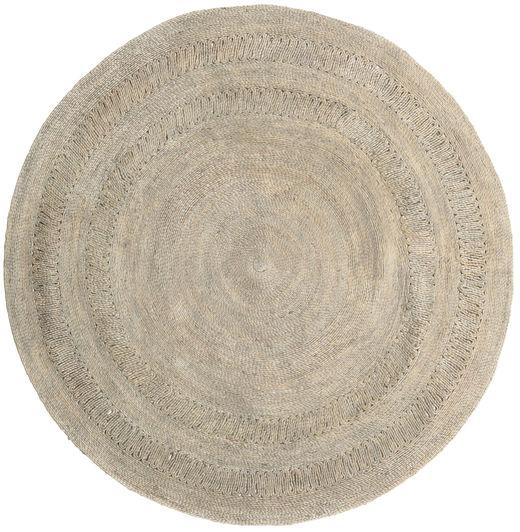 Kex - Greige Teppe 150X150 Ekte Moderne Håndvevd Kvadratisk Lysbrun ( India)