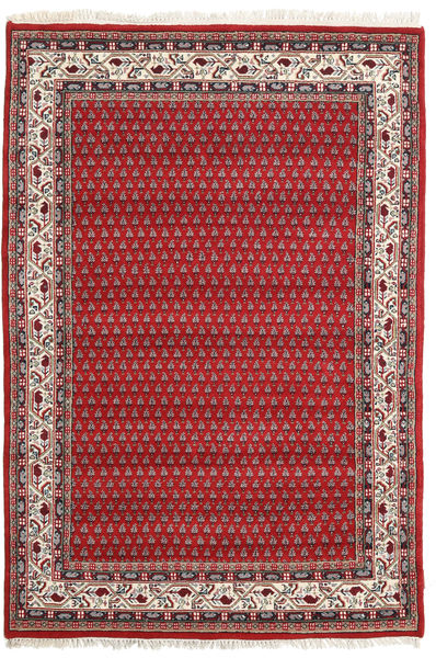 Mir Indo Rug 139X202 Authentic  Oriental Handknotted Rust Red/Crimson Red (Wool, India)