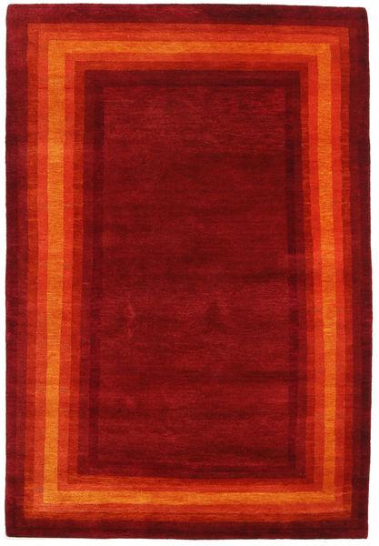 Gabbeh Loribaft Szőnyeg 119X173 Modern Csomózású Sötétpiros/Narancssárga (Gyapjú, India)