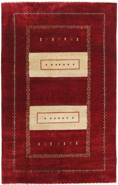 Gabbeh Loribaft Szőnyeg 111X174 Modern Csomózású Sötétpiros/Piros (Gyapjú, India)