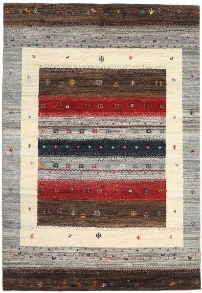 Gabbeh Loribaft Rug 125X182 Authentic  Modern Handknotted Light Grey/Beige/Dark Brown (Wool, India)