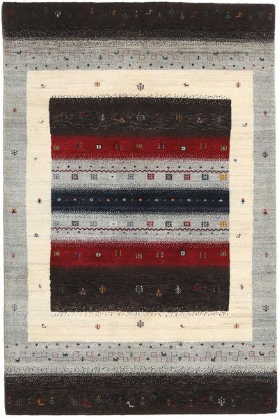 Gabbeh Loribaft Rug 121X183 Authentic  Modern Handknotted Dark Brown/Light Grey (Wool, India)