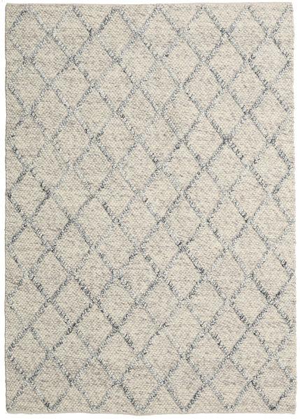 Rut - Prata/Cinzento Melange Tapete 160X230 Moderno Tecidos À Mão Cinzento Claro/Bege Escuro (Lã, Índia)