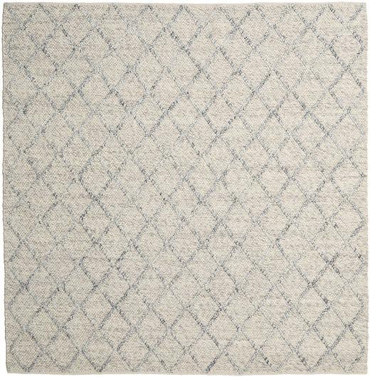 Rut - Silver/Grey Melange Rug 250X250 Authentic  Modern Handwoven Square Light Grey/Dark Beige Large (Wool, India)