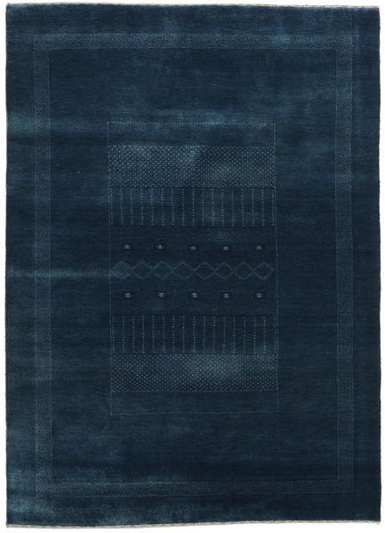 Gabbeh Loribaft Rug 155X215 Authentic  Modern Handknotted Dark Blue (Wool, India)