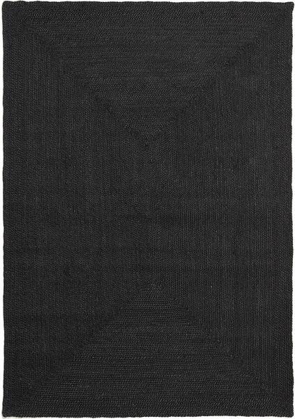 Frida Color - Czarny Dywan 160X230 Nowoczesny Tkany Ręcznie Czarny ( Indie)