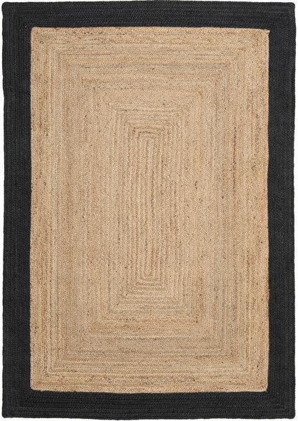 Frida Frame - Natural/Preto Tapete 160X230 Moderno Tecidos À Mão Castanho Claro/Preto ( Índia)