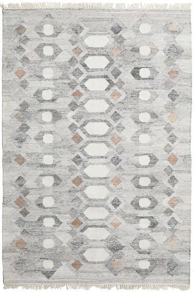 Martha Matto 160X230 Moderni Käsinkudottu Vaaleanharmaa/Beige ( Intia)