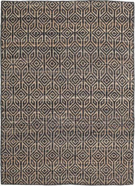 Tilly Tapis 160X230 Moderne Tissé À La Main Gris Foncé/Gris Clair ( Inde)