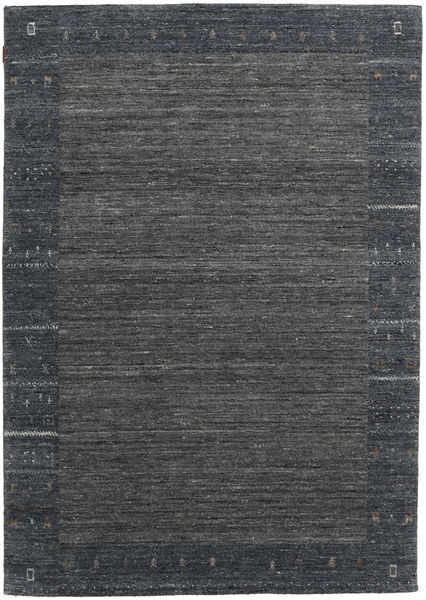 Gabbeh Indo Rug 167X236 Authentic  Modern Handknotted Dark Grey/Dark Blue (Wool, India)
