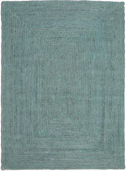 Frida Color - Turquesa Tapete 140X200 Moderno Tecidos À Mão Azul Turquesa/Azul Turquesa ( Índia)