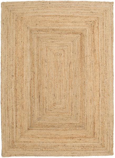 Frida - Natural Tappeto 140X200 Moderno Tessuto A Mano Marrone Chiaro/Beige Scuro ( India)