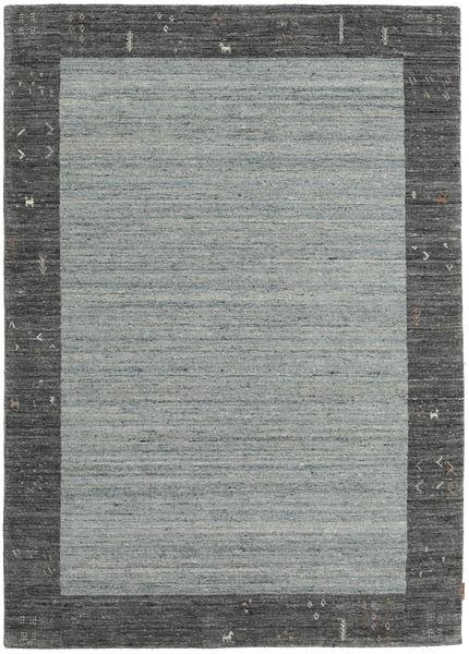 Gabbeh Indo Rug 168X236 Authentic  Modern Handknotted Dark Grey/Light Grey (Wool, India)