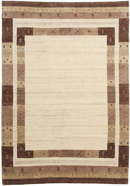 Gabbeh Indo Rug 171X244 Authentic  Modern Handknotted Beige/Light Brown (Wool, India)